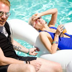 Kanon Organic Vodka US President Peter Wijk with Kristin Reiter. [Photo courtesy of Kanon]