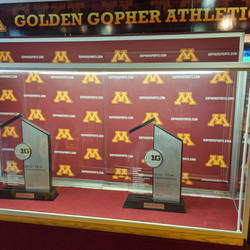 I like to check out the Gophers' trophies when I'm there, too. The rivalry trophies are neat to see up close.