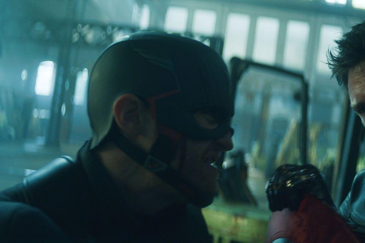 "John Walker (Wyatt Russell) and Winter Soldier/Bucky Barnes (Sebastian Stan) in ""The Falcon and the Winter Soldier."""