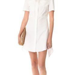 "Pintucked shirt dress in white, $175 (via <a href=""http://www.lyst.com/clothing/31-phillip-lim-pintucked-flirt-dress-white-1/""> Lyst </a>)"