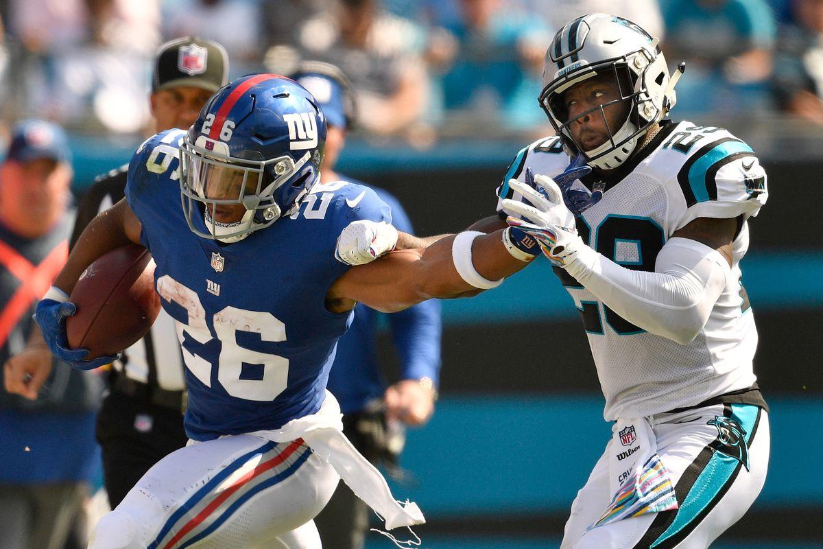 online store fc71c d3534 Giants-Panthers final score: Giants beaten, 33-31, on 63 ...