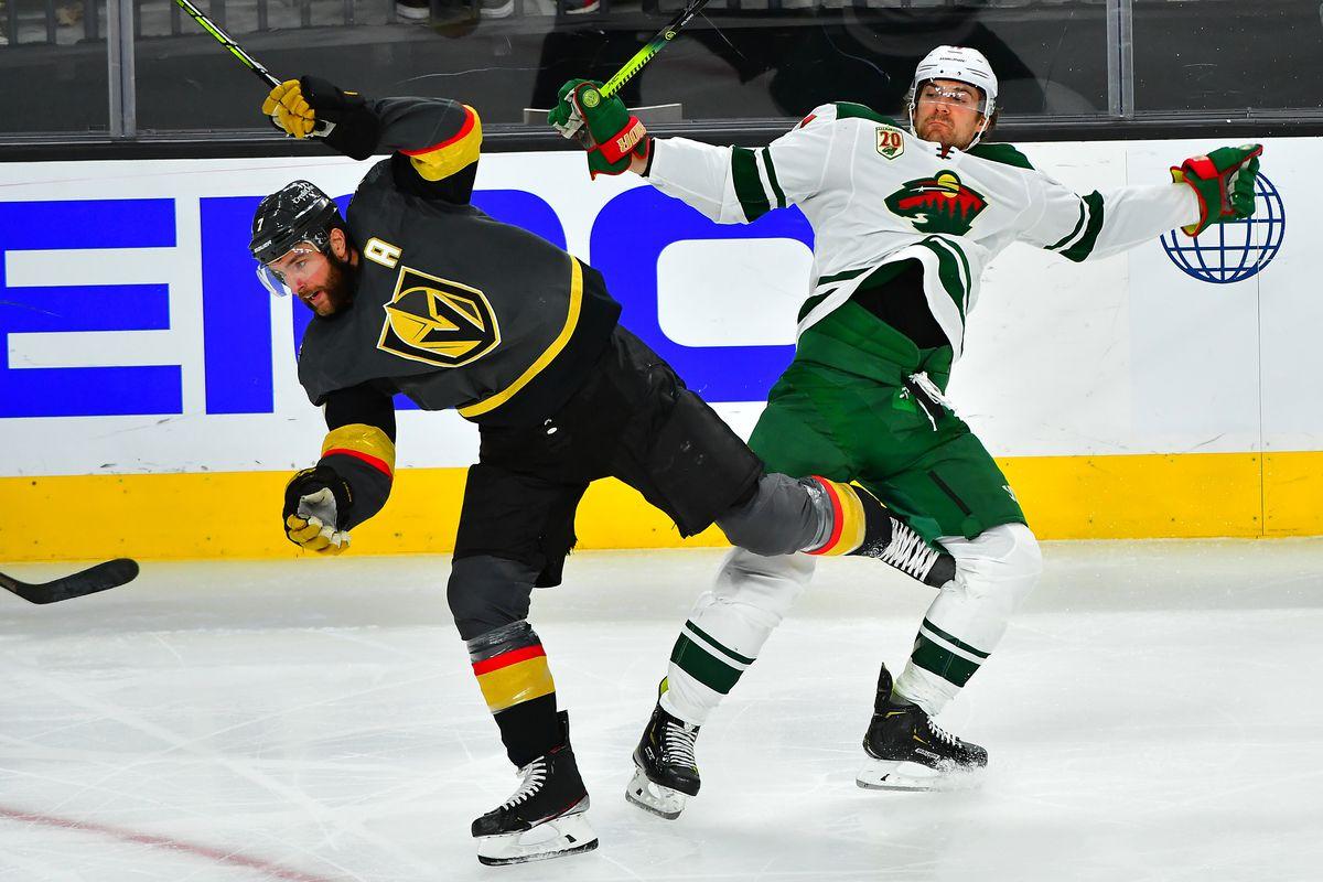 NHL: Stanley Cup Playoffs-Minnesota Wild at Vegas Golden Knights