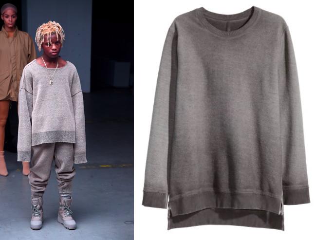 yzy grey sweater