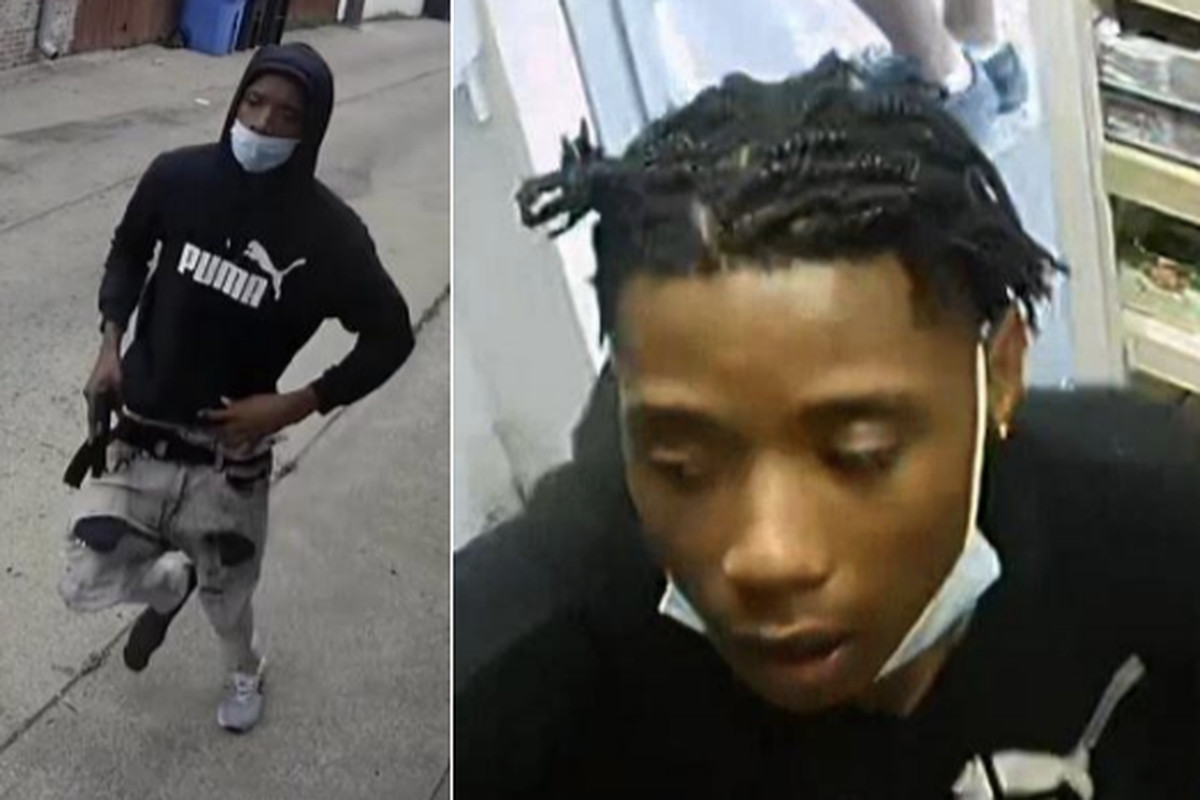Photos of the person wanted for the alleged murder of two teens June 20, 2020, in South Chicago.