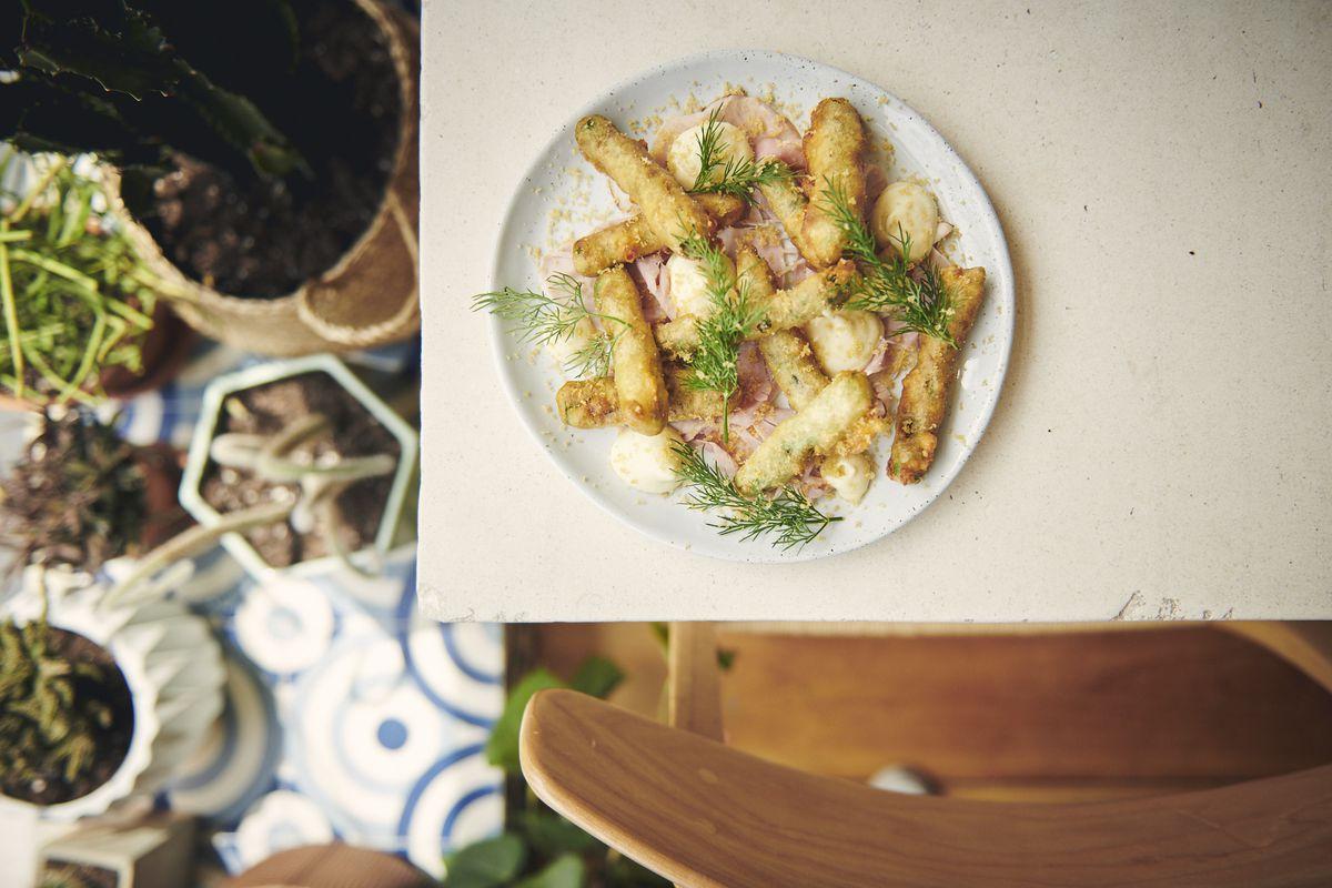 Pheasant's asparagus fritto