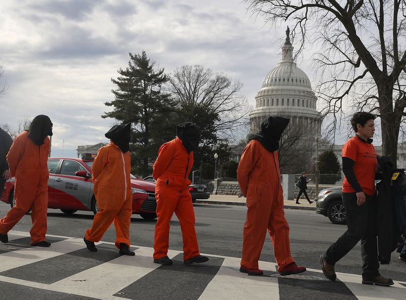 Activist Rally And March Calling For Closure Of Guantanamo Bay Detention Facility