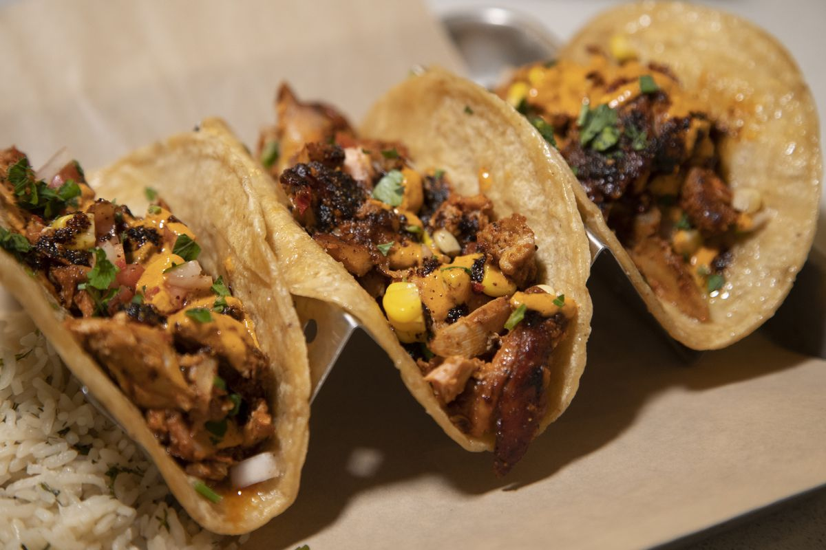 Arab swag tacos served at Cedars Mediterranean Kitchen.