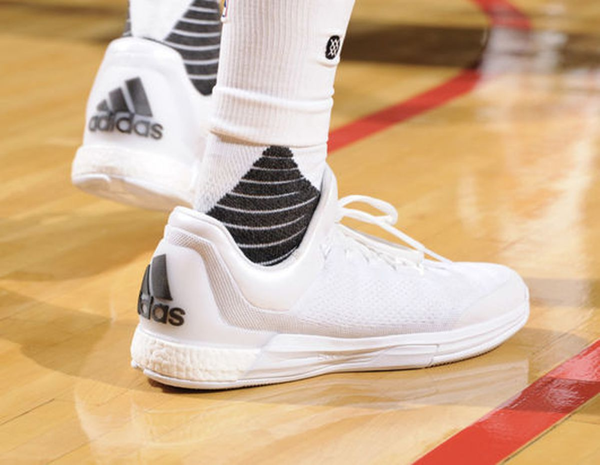 ... signature shoe from Adidas, the Beard will be rocking out the Adidas  Crazy Light Boost PK H (Primeknit Harden). Light is very accurate.
