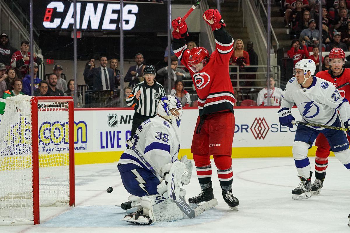 NHL: OCT 06 Lightning at Hurricanes