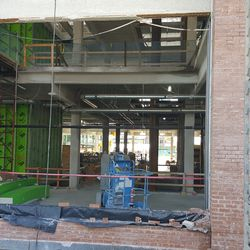 Another ground-floor view of the plaza building -