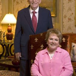 FILE — Ira and Mary Lou Fulton. Mary Lou Fulton, who along with her husband Ira gave more than $50 million to Brigham Young University, died Thursday.