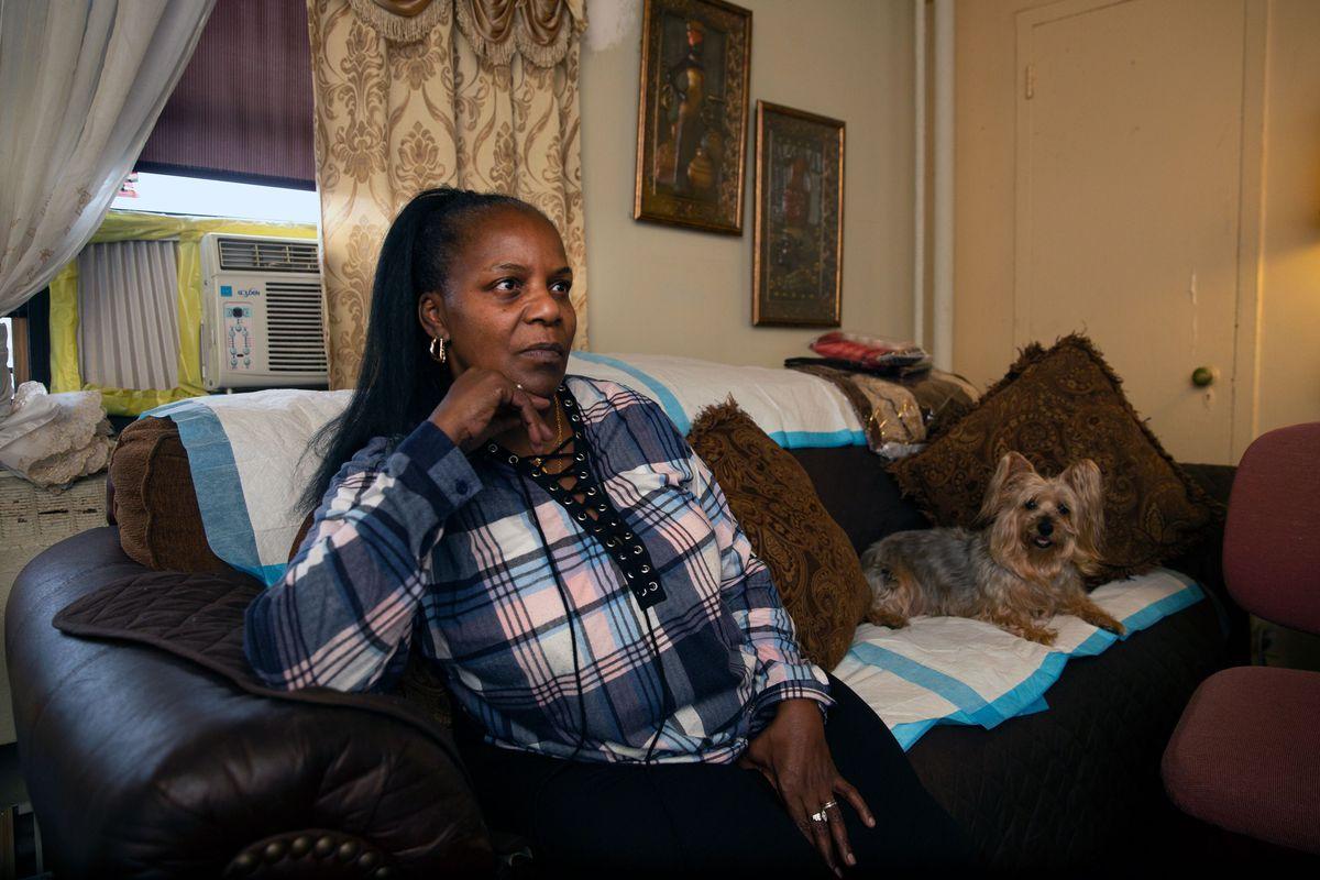 Linden Houses resident Tawana Myers