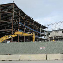 Nov 29: Plaza building, showing video board framework -
