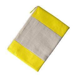 """Two-Tone Canvas Clutch in Neon Yellow, $29.95 at <a href=""""http://www.gap.com/browse/product.do?cid=34740&vid=1&pid=351406002"""">Gap</a>"""