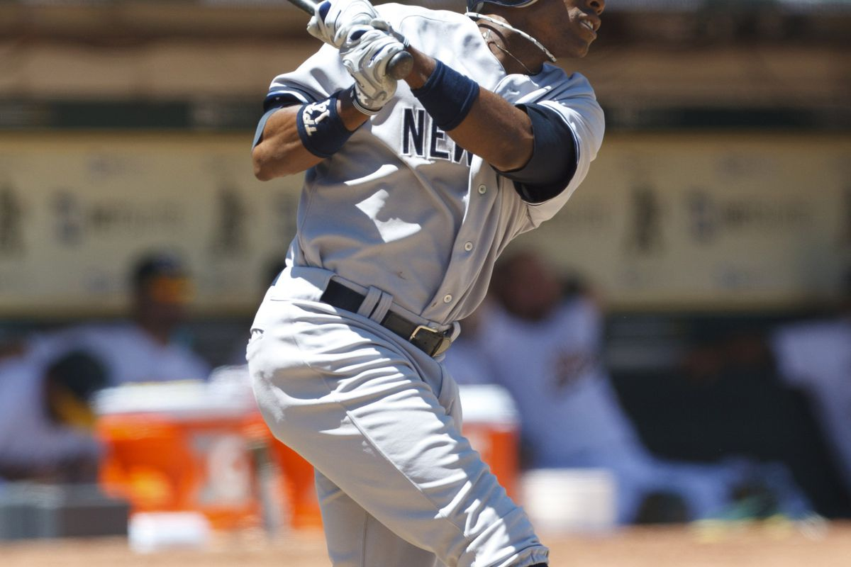 Curtis Granderson can slug, but his defensive range seems to be ebbing. (Photo by Jason O. Watson/Getty Images)