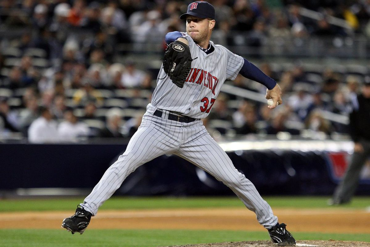 Ron Mahay walked two of the 68 left-handed batters he faced in 2010. (<em>Photo: Jeff McIsaac   Getty Images Sport</em>)
