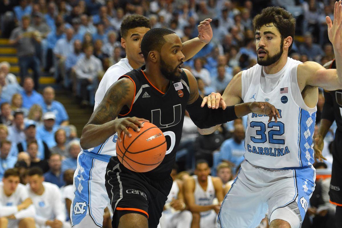 NCAA Basketball: Miami at North Carolina