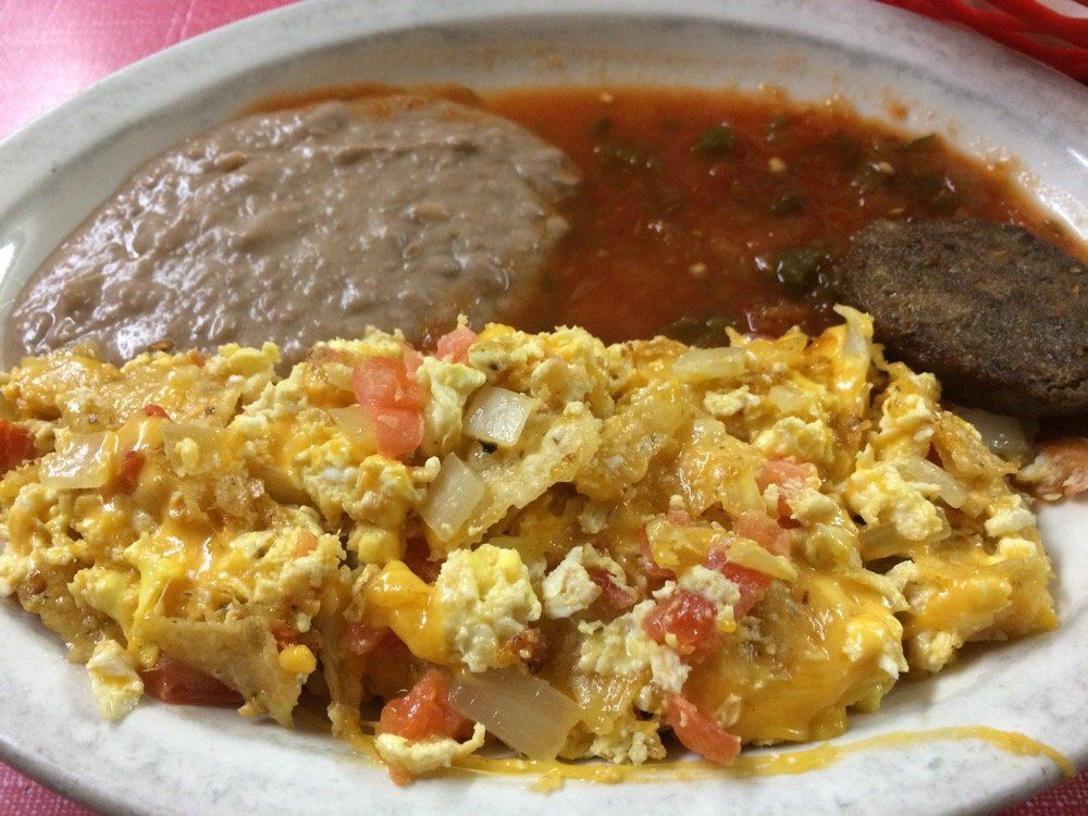 A migas plate from Cisco's