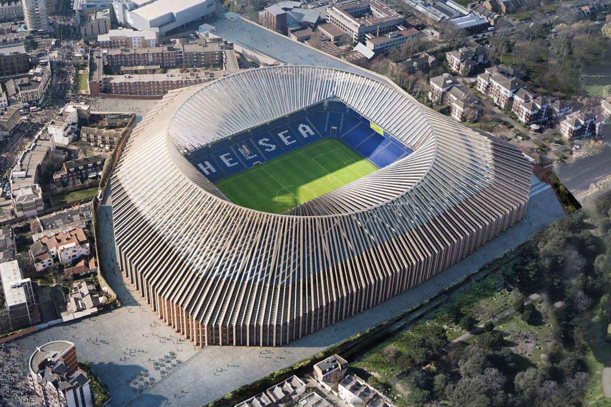 chelsea new stadium aerial render