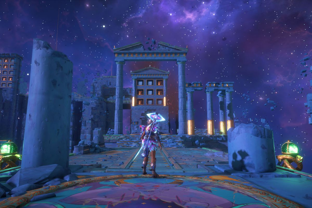 The entrance to Kalliope's Distress in Immortals Fenyx Rising
