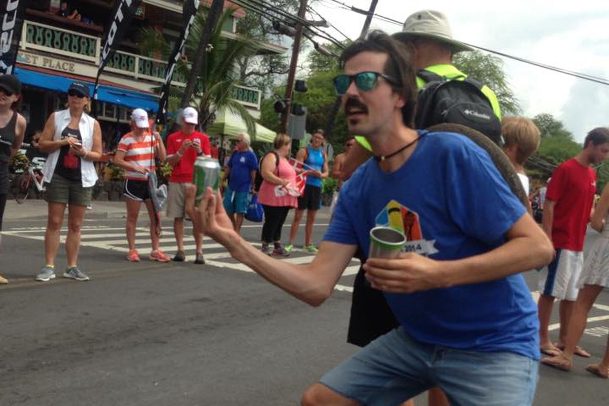 """""""Who was that guy at mile 1.5 trying to hand me a Heineken? Is that a #pottshead?"""""""
