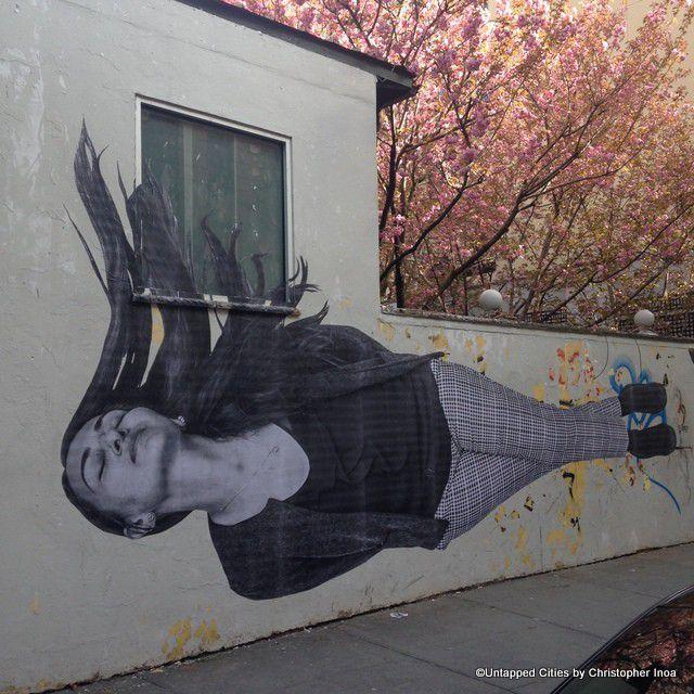 Georgian immigrant street art