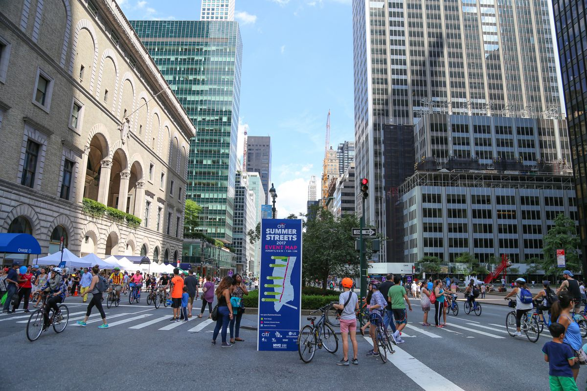 Summer Streets NYC 2018: dates, route, map, and more - Curbed NY on nyc cycling map, order nyc bike map, tribeca map, bronx zip code map, new york city limits map, nyc subway map, manhattan waterfront greenway bike map, nyc dot map,