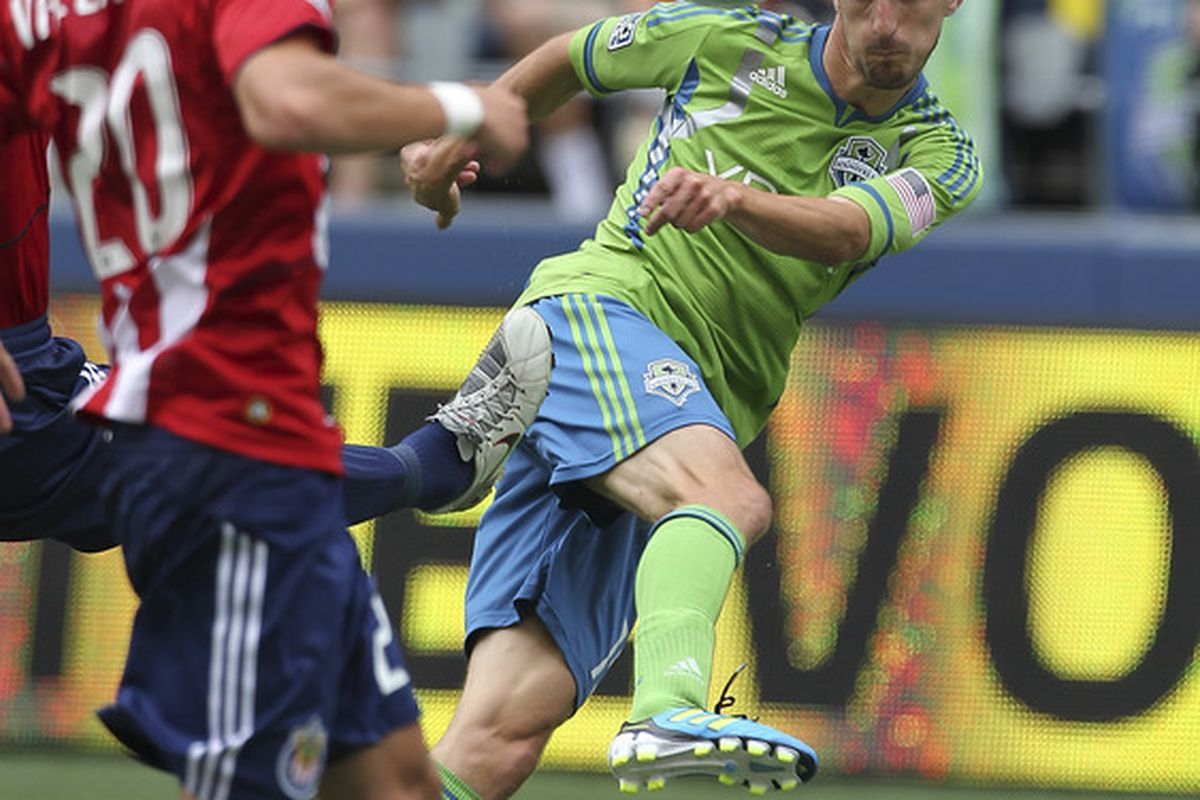 As important as he has been for the Sounders in 2011, Alvaro Fernandez may be mis-cast as an outside player