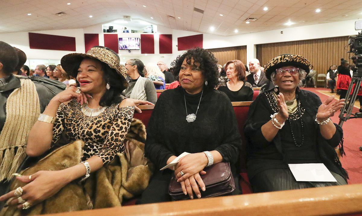 Congregants listen as Pastor France A. Davis gives his final sermon at Calvary Baptist Church in Salt Lake City on Sunday, Dec. 29, 2019.