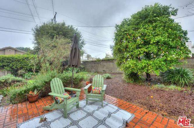 Backyard space with brick patio