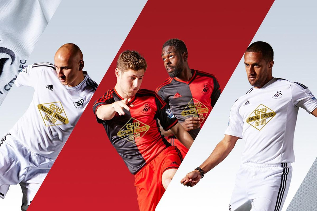 wholesale dealer 5c018 e3df1 Swansea City unveil 2014/15 adidas home and away kits ...