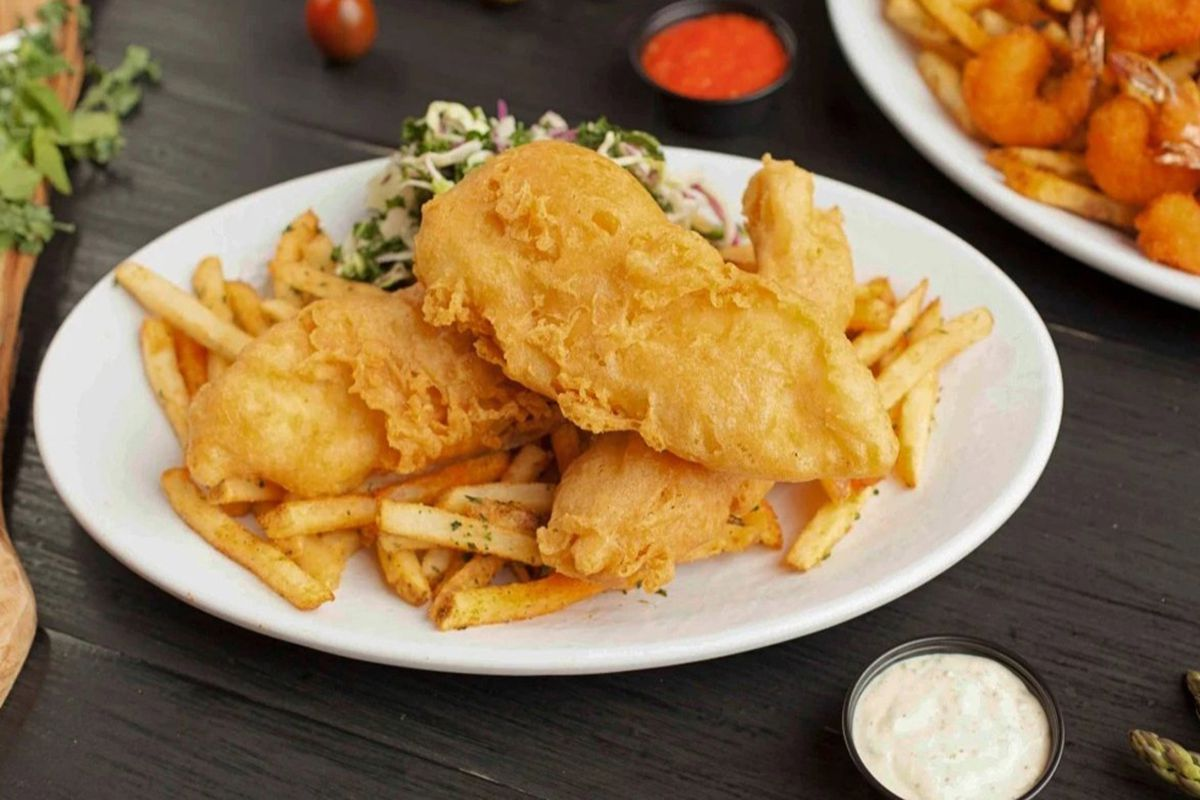 Fish & chips on the casual dining menu at California Fish Grill, headed to the westside.