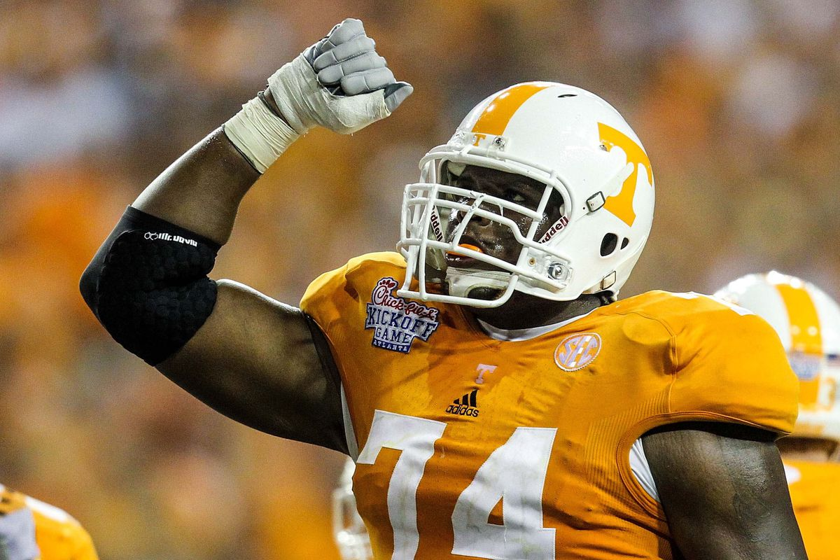 The best left tackle in the SEC resides in Knoxville, not Tuscaloosa.