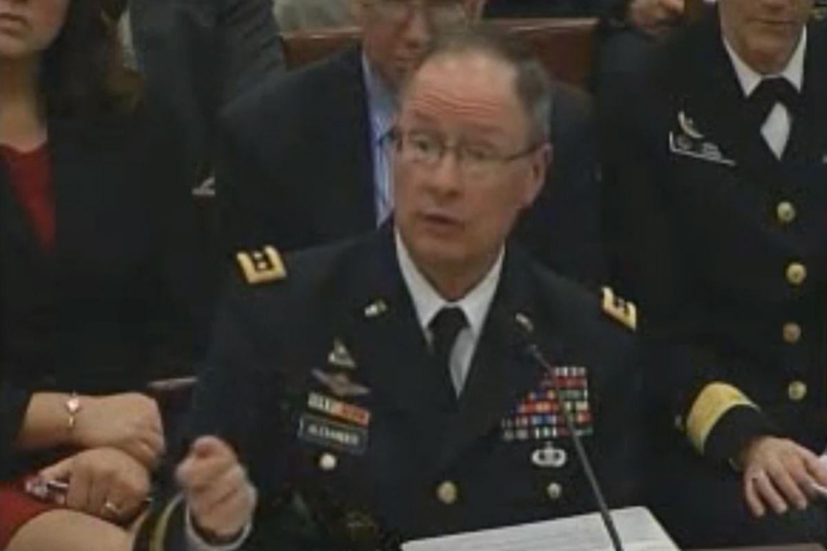 NSA director General Keith Alexander