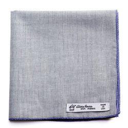 Gray & White Double-sided Organic Mini Stripe Cotton Pocket Square will be $20 (retail $25)