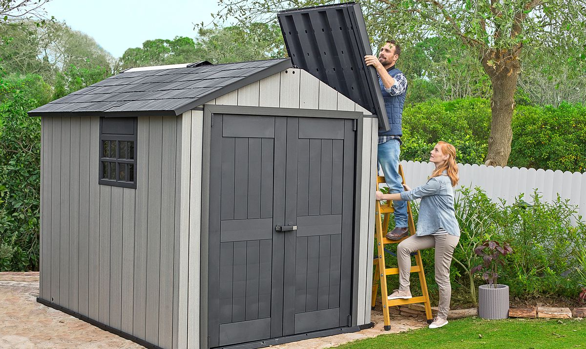 Couple Builds Backyard Shed Using Garden Shed Kit Made Out Of Steel-Framed Plastic