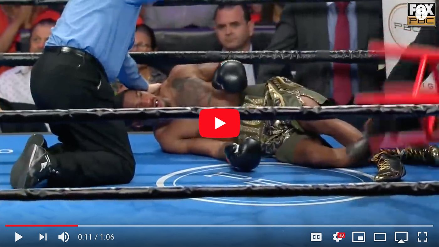 Video: Boxer pretends punches don't hurt, gets KTFO because they do