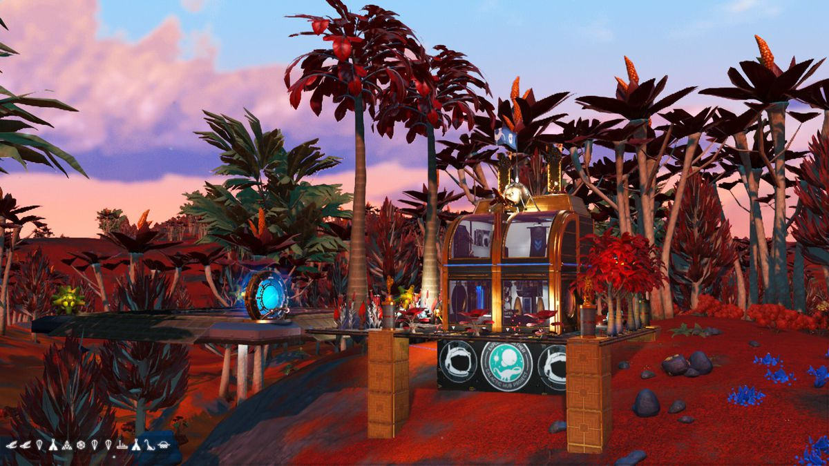 A micro base within No Man's Sky.
