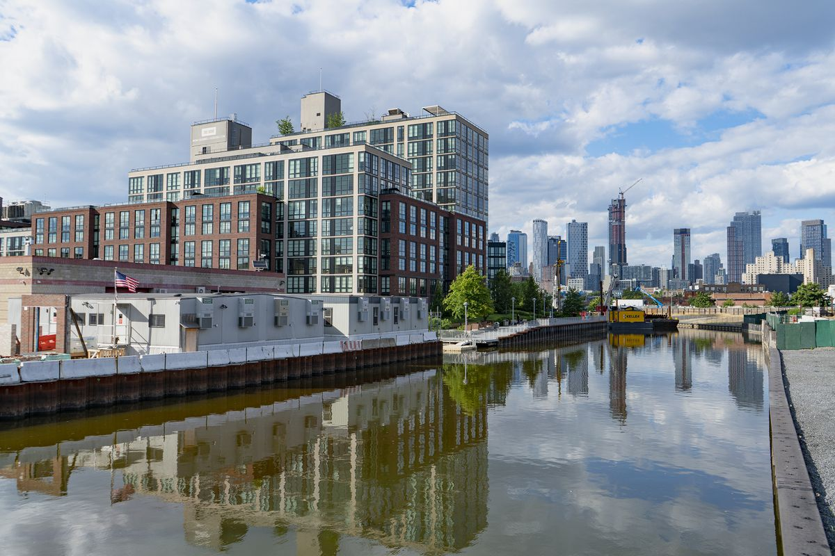 Already built in the Gowanus area: 365 Bond, a luxury residence constructed on the edge of the canal.