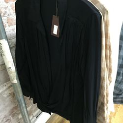 Harlow shirt in black, $120 (was $288)
