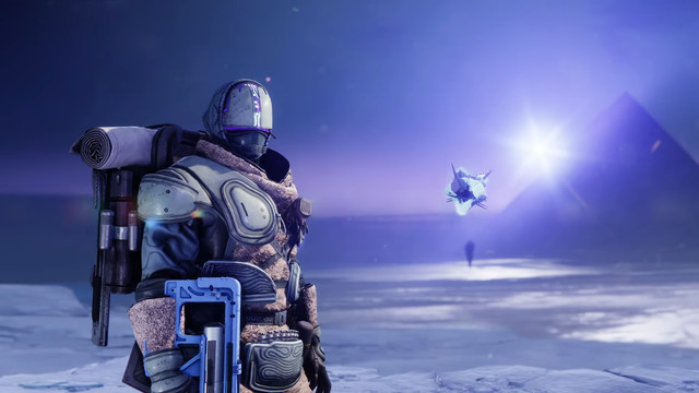 Destiny 2 Beyond Light Guardian and Ghost on Europa