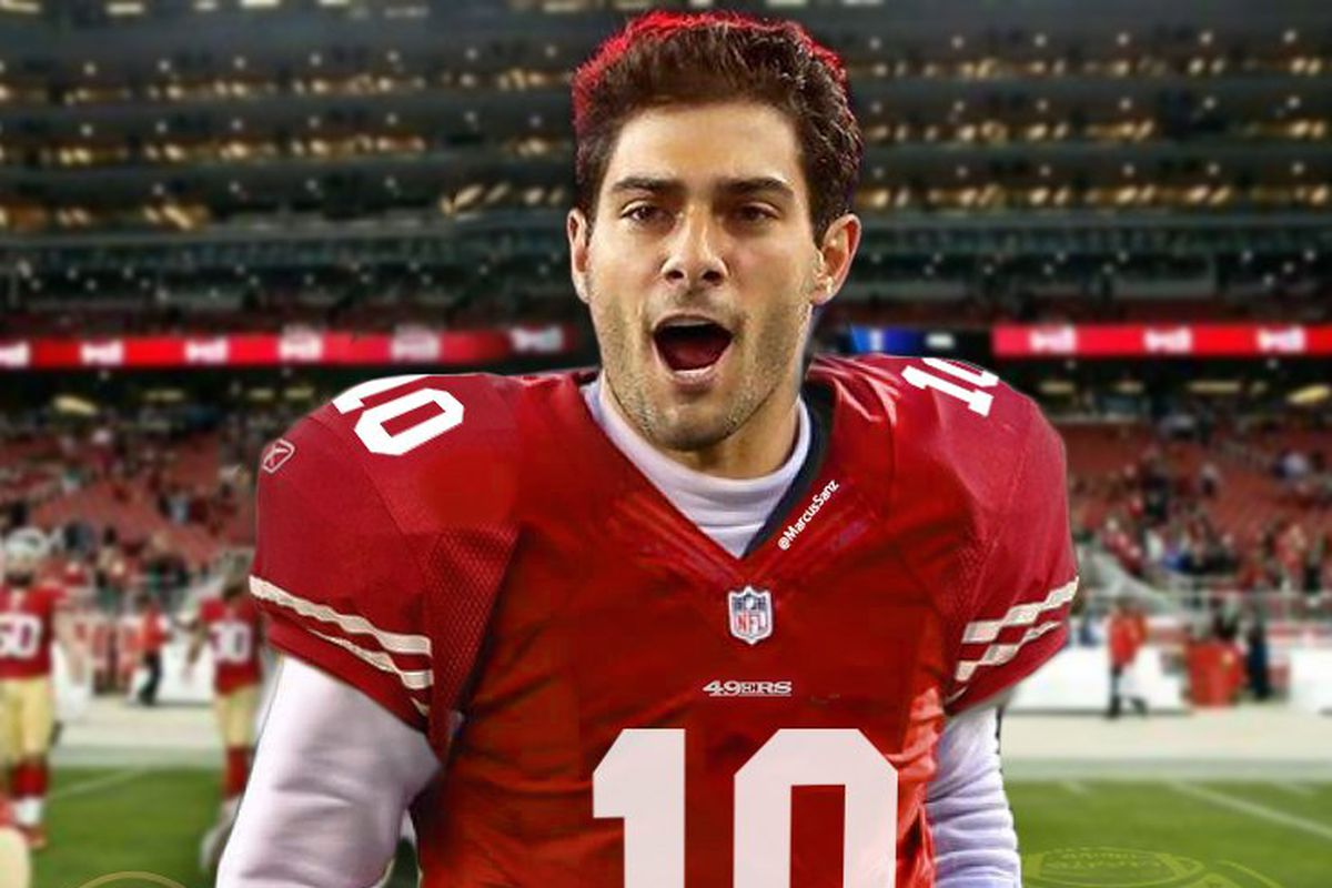 designer fashion 20892 73a87 Jimmy Garoppolo photoshopped into a 49ers uniform - Niners ...