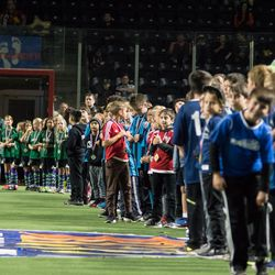 The championship teams from Washington Youth Soccer were invited onto the field at halftime to be honored