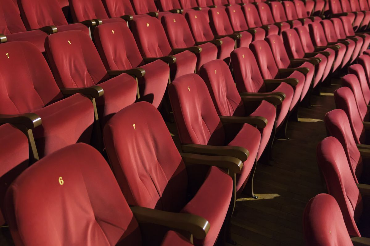 An empty movie theater. But it's not high prices keeping moviegoers at home.
