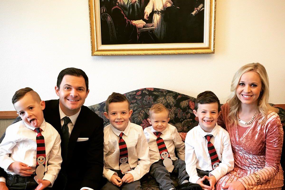 Carmen Herbert and her family attend church.