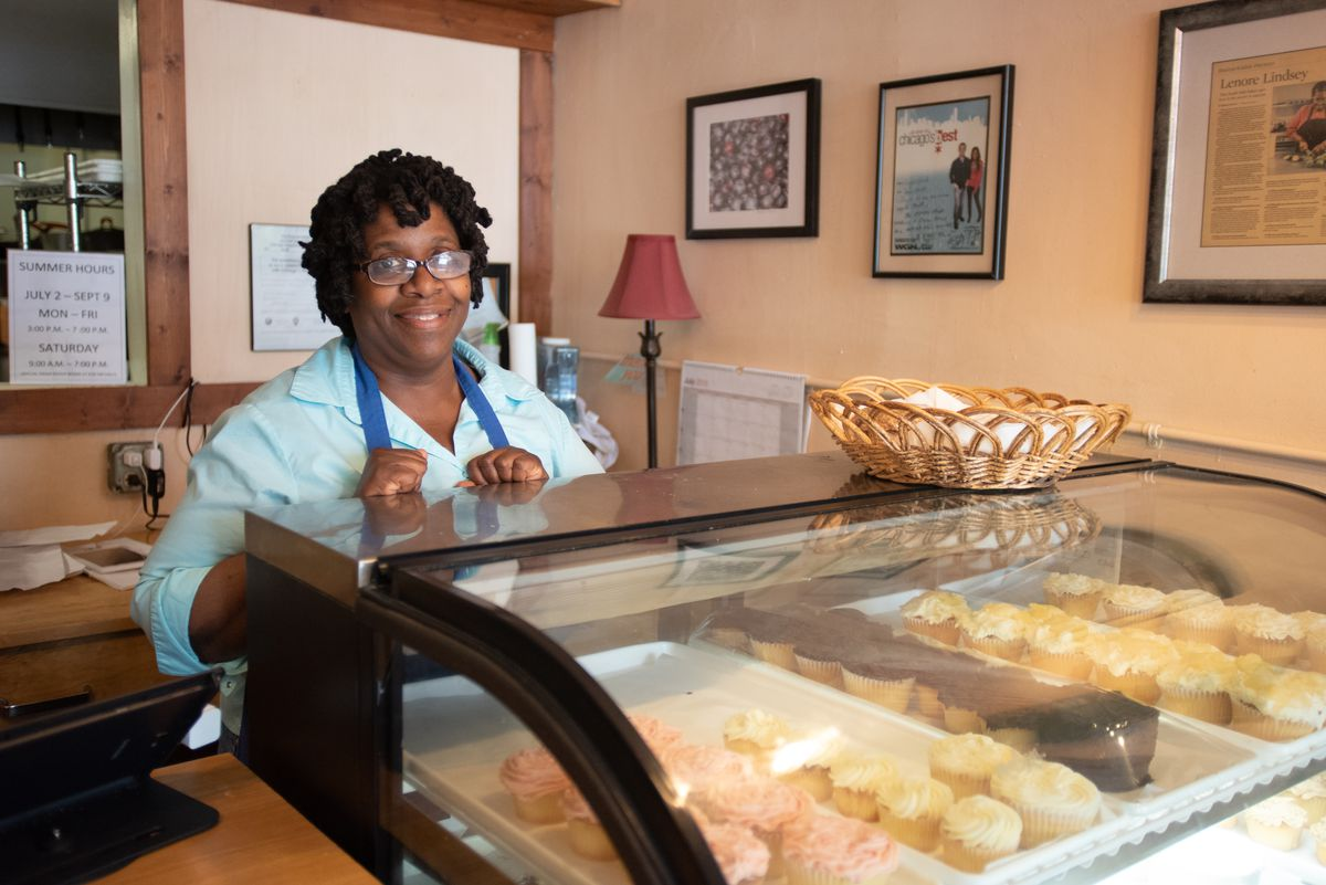 Lenore Lindsey, owner of Give Me Some Sugah bakery. | Colin Boyle/Sun-Times
