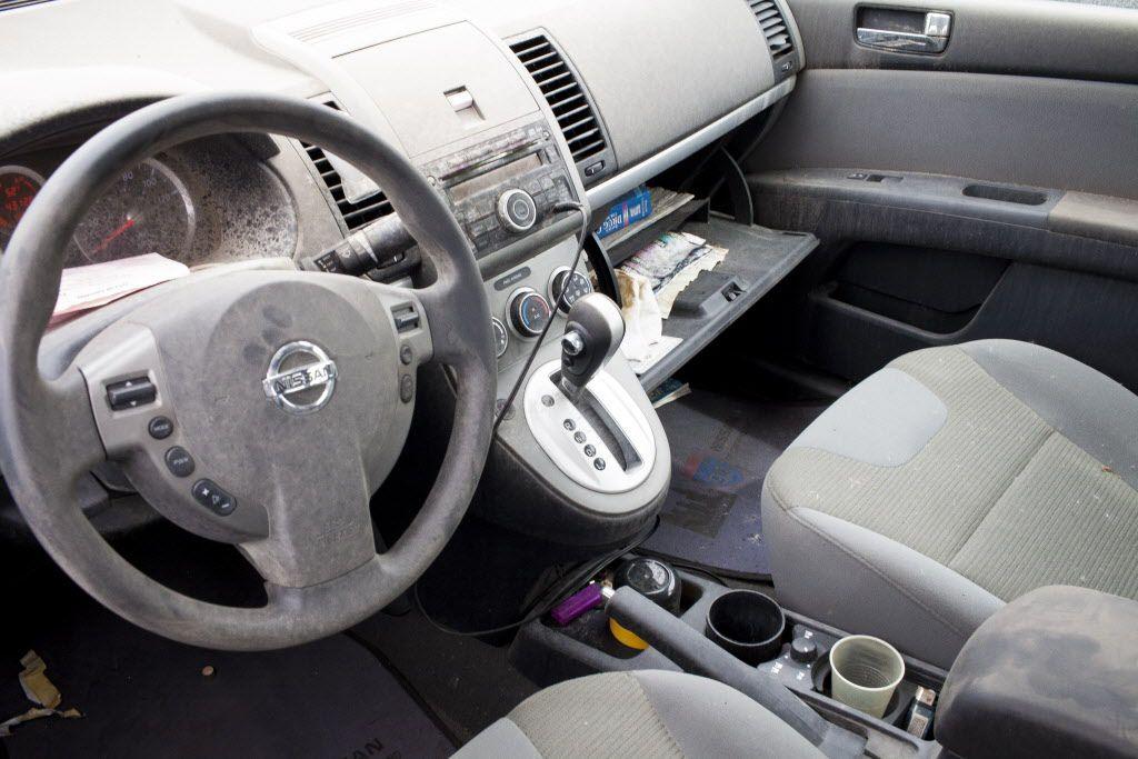 The inside of Symone Smith's 2010 Nissan Sentra. | Michelle Kanaar / Sun-Times