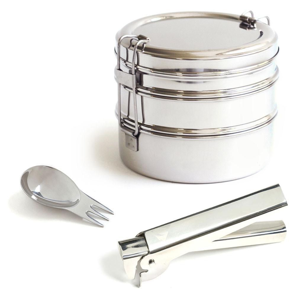 <p>Encourage preparation of healthy meals in advance (instead of just picking up fast food). Perfect for salads and other dry lunch foods. Not advisable for a lunch menu that leaks. Compact design latches together for hassle-free transport.</p>