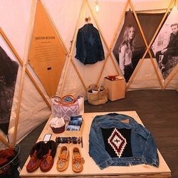 The yurts also showcased artisan products from Folk Fibers, Chimayo, and more.