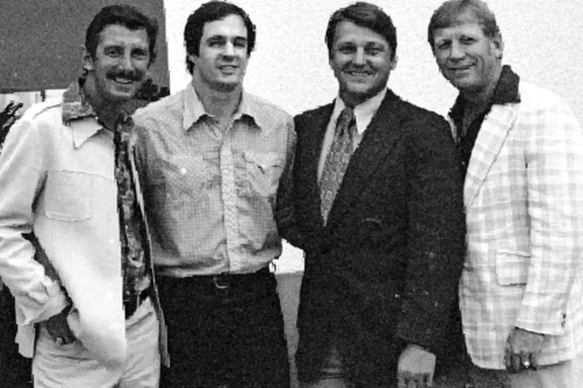 Billy Martin, Rick Telander, Roger Maris and Mickey Mantle